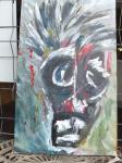 der Schock / Acryl auf Keilrahmen / von Marc Schmelz / 2012 / 80x50x1,5