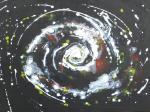 Galaxie / Acryl auf Keilrahmen / von Marc Schmelz / 2012 / ca 70x100x1,5