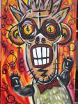 Monkey / / Acryl auf Keilrahmen / von Marc Schmelz / 2012 / ca 50x80x1,5