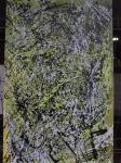 Green Splash / Acryl auf altes Leinen / kein Keilrahmen / Rahmen selbst gebaut und verschraubt / von Marc Schmelz / 2013 / ca 83x130x5