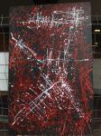 Konstrukt / Acrylfarbe auf recyceltes Leinen / fester Rahmen / 2013 / von Marc Schmelz / ca 82x126x5cm
