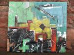 Broken Industry / original / Acrylfarbe auf recycling Leinen / Rahmen fest, leicht verzogen / von Marc Schmelz / 2013 / 140x114