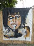 Acrylbild / Acryl auf recyceltes Leinen / von Marc Schmelz / 2014 / auf keinen Rahmen gespannt / 150 x 180 cm