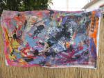 Acrylbild / Acryl auf recyceltes Leinen / von Marc Schmelz / 2014 / auf keinen Rahmen gespannt /